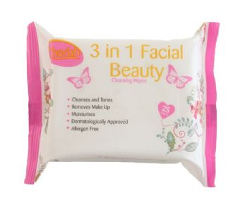 Cherish '3 in 1' Facial Cleansing Wipes
